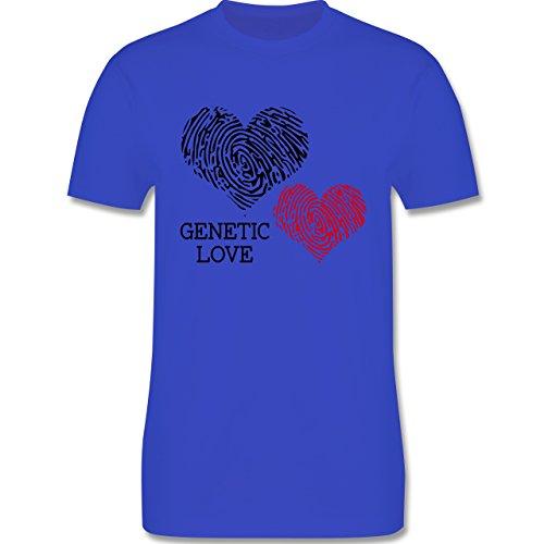 Romantisch - Genetic Love Fingerabdruck - Herren Premium T-Shirt Royalblau
