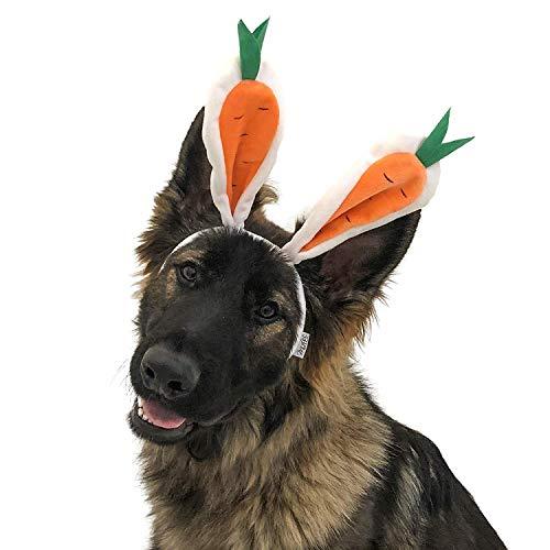 Midlee Karotte Hasenohren Ostern Hund Stirnband Kostüm, (Karotte Kostüm Hunde)