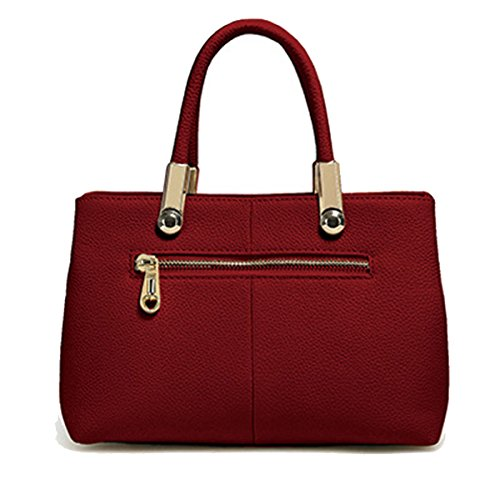 Mode Folk-custom Stickerei Lederhandtasche Umhängetasche Multicolor Red