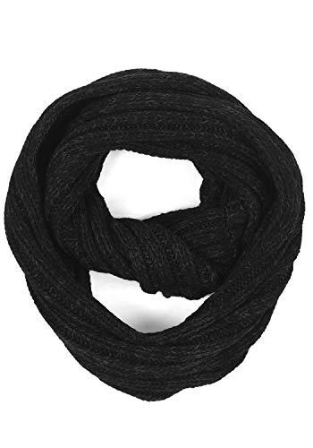 !Solid Russel Herren Schal Winterschal Unisex Grobstrick Tube Schal, Größe:ONE SIZE, Farbe:Black (9000)