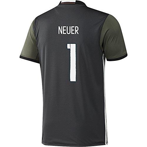 Adidas DFB Deutschland Fussball Trikot Away Euro EM 2016 Manuel Neuer 1 Kinder grau grün Größe 140