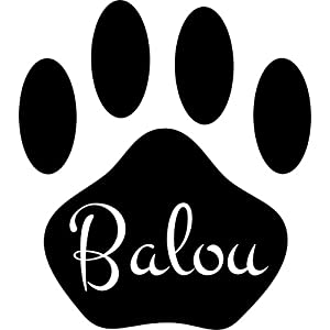 Autoaufkleber Hundepfote mit Name