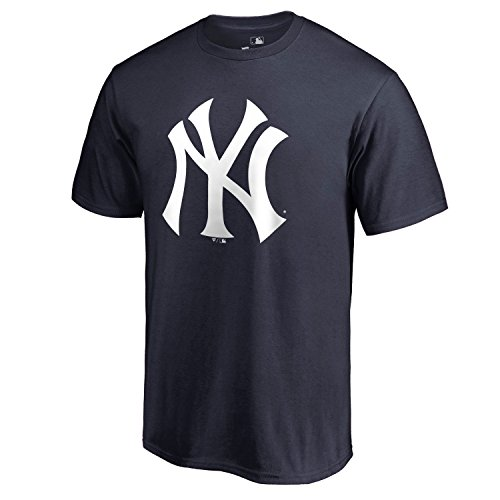 Outerstuff MLB Youth Team Color Primary Logo Performance T-Shirt, Jungen, New York Yankees, Medium 10/12 US New York Yankees-kinder-fan