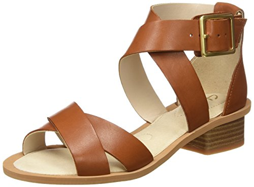 Clarks Damen Sandcastle Ray Knöchelriemchen, Braun (Tan Leather), 39.5 EU