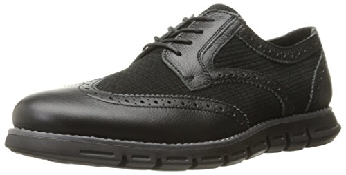 GBX Hurt Hommes Cuir Oxford Black