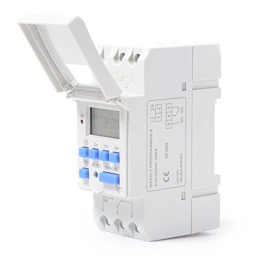 XCSOURCE THC15A Digital LCD Strom Programmierbar Zeit Schalter Elektronischer Timer 110V Für Lichter Elektrische Geräte TH280 - 5