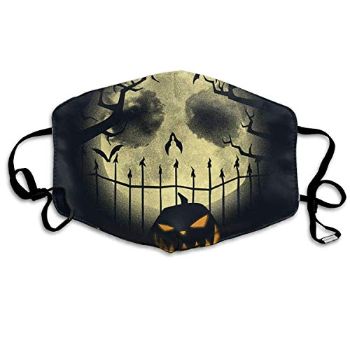 onative Nightmare Before Christmas Halloween Printed Mouth Masks Unisex Anti-dust Masks Reusable Face Mask Mouth-Muffle Mund Maske ()