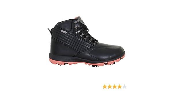 Stuburt 2017 Ladies Waterproof Endurance Golf Shoes Winter Boots Black/Coral 8UK ZagZA