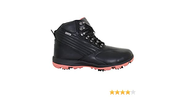 Stuburt 2017 Ladies Waterproof Endurance Golf Shoes Winter Boots Black/Coral 8UK
