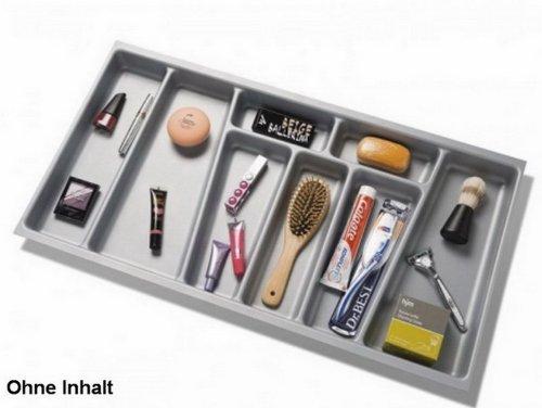 FACKELMANN Organisation-Schubkasteneinsatz, Kunststoff, Grau, 5 x 70 x 37,4 cm