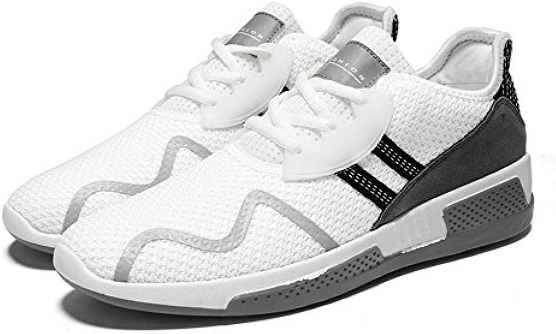 LXMEI Sommer New Style Fashion Herrenschuhe Casual und Turnschuhe Breathable Bequeme Schuhe Männer Schwarz weissszlig