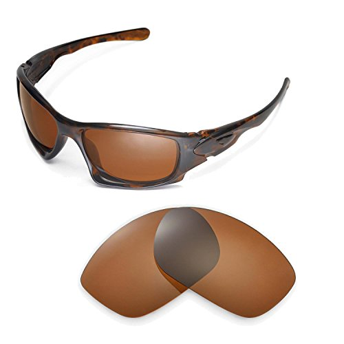Walleva Ersatzgläser für Oakley Ten Sonnenbrille - Mehrfache Optionen (Braun - polarisiert)