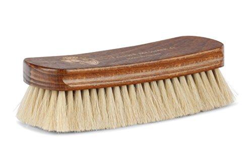 Langer & Messmer Schuhbürste aus hellem Rosshaar zum Polieren Ihrer Schuhe - Die Polierbürste für die professionelle Schuhpflege -