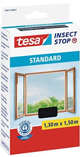 Moustiquaire pour fenêtre, à 1,30 m x 1,50 m Tesa® 6 Contenu du 1,30 m x 1,50 m 6er Packung anthracite
