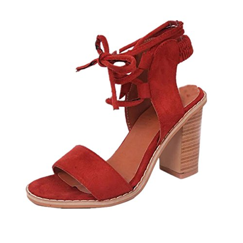 Kolylong 2017 Printemps été Mode bretelles Sandales Femmes Pompes Talons hauts Chaussures Femmes Chaussures vin