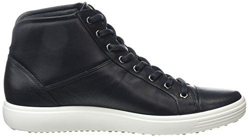 Ecco Damen Soft 7 Ladies High-Top Schwarz (Black 1001)