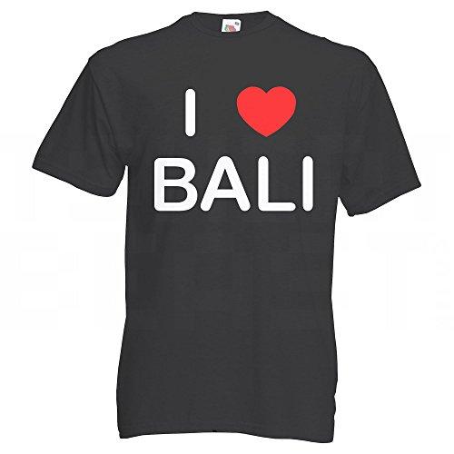 I Love Bali - T Shirt Schwarz