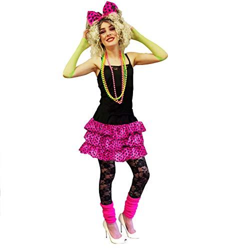 sowest Damen 80er Jahre 90er Jahre rosa Gaga Madonna RARA Tutu Kit rosa Kostüm Outfit Kostüm (Madonna Outfits Aus Den 80er Jahren)