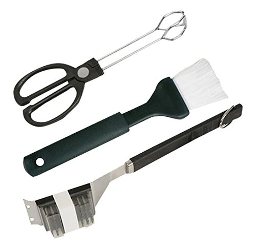Class Wine BBQ ASSORTI Pince/Pinceau/Brosse de Barbecue Inox Kit de 3