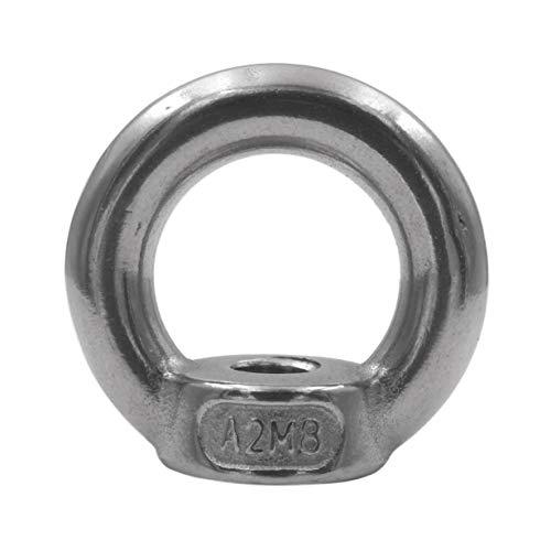 5 Stück Ringmutter DIN 582 Edelstahl V2A Ösenmutter Metrisch M6 M8 M10 M12 rostfrei A2 - Augenmutter (M8)