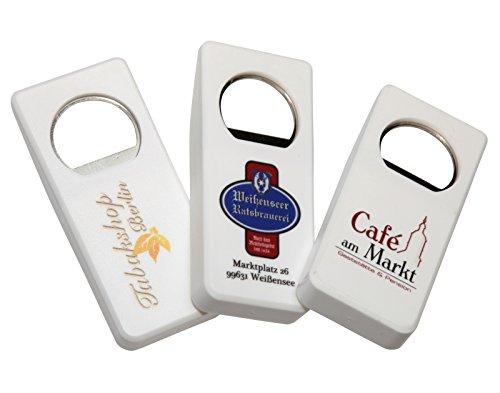 50 Stück Flaschenöffner mit Druck Werbung Logo Foto 4-Farb-Druck - Fotodruck, Preise inklusive Druck