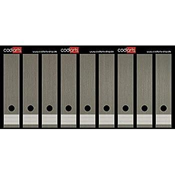 Set 9 St/ück Ordner-Etiketten selbstklebend Ordnerr/ücken Sticker Rotes Mohnblumenfeld