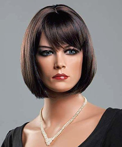 Forever Young Ladies Short Dark Brown Auburn Blend Wig in Classy Bob Style by Forever Young -