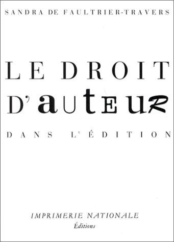Le Droit d'auteur dans l'édition