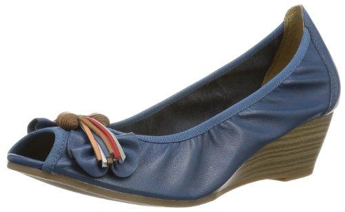 Caprice Laika-2-2 9-9-29200-22 001, Escarpins Bout ouvert femme Bleu - Blau (MID BLUE 874)