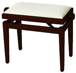 FX F900562 Pianobank Kischbaum matt, Sitz beige, höhenverstellbar