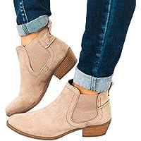 Geili Chelsea Stiefel Damen Kurzschaft Stiefeletten Einfarbige Wildleder Ankle Boots mit Halbhohe Blockabsatz... preisvergleich bei billige-tabletten.eu