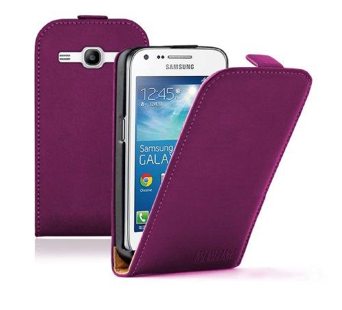 Membrane - Ultra Slim Lila Klapptasche Hülle Samsung Galaxy Core Plus (GT-G3500 / SM-G350 / G3502) - Flip Case Cover