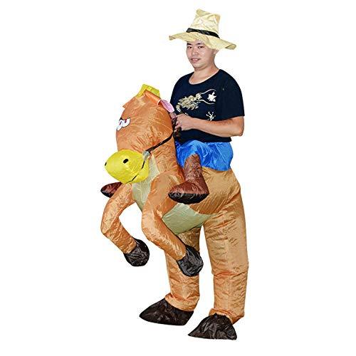 ypyrhh Traje Blow Up, Disfraz de Halloween, Caballo Inflable, Ropa Animal, Ropa para Caminar, Pantalones mágicos, marrón Adecuado para una Altura de 150-185cm