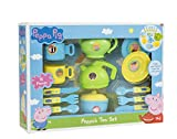 HTI Toys Peppa Pig Cutlery & Tea Dinner Set | Includes Teapot, Jug, Bowl, Saucers & More | Fun Toddler Tea Pot Set for Little Boys & Girls Age 3 Years +