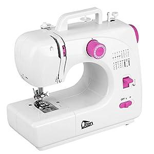 Uten Nähmaschine Mini Klein Freiarm 16 Nähprogramme Haushaltsgeräte Stichprogramme, Für Anfänger Kinder DIY Begeisterte
