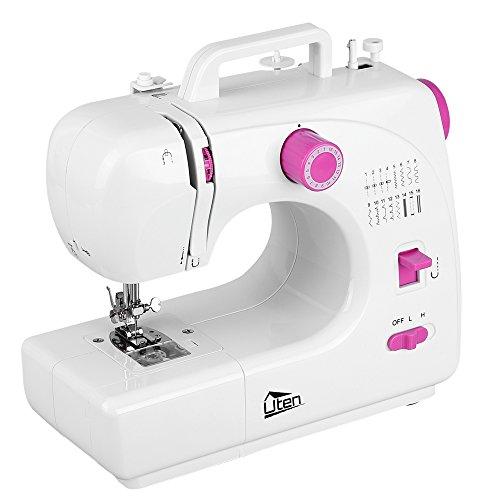 Uten Nähmaschine Mini 16 Nähprogramme für Anfänger Kinder DIY Begeisterte