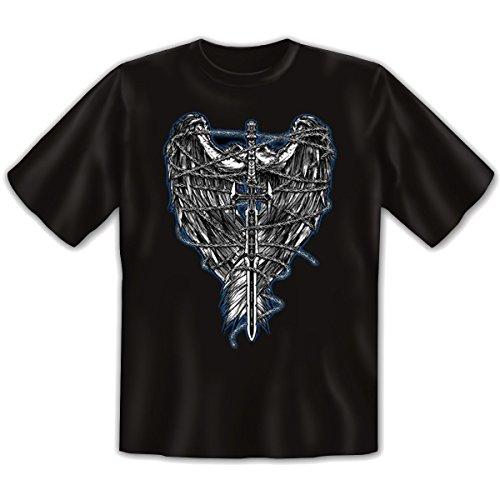 Damen und Herren T-Shirt mit dem Motiv: Tied Wings Größe: Farbe: schwarz - von van Petersen Shirts Schwarz
