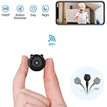 Mini Cámara Espía Oculta AOBO 1080P HD WiFi Cámara Portátil con Visión Nocturna y Conexión Remota