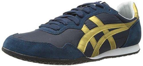 ASICS - - Herren Onitsuka Tiger Schuhe Serrano, 46.5 EU, Navy/Gold
