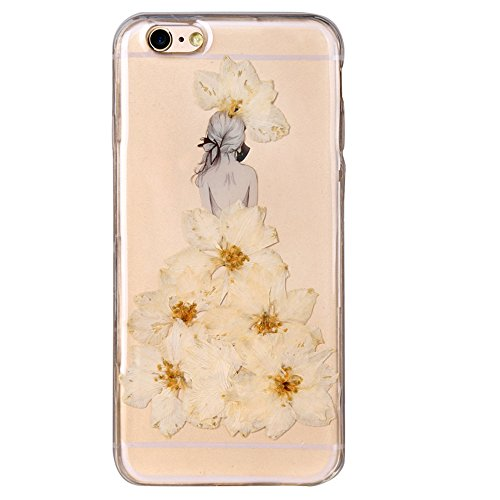 """iPhone 6s Schutzhülle, iPhone 6 Soft TPU Handytasche, CLTPY Modisch Durchsichtige Rückschale im Getrocknete Blumenart, [Stoßdämpfung] & [Kratzfeste] Full Body Case für 4.7"""" Apple iPhone 6/6s + 1 Stylu Floral 23"""