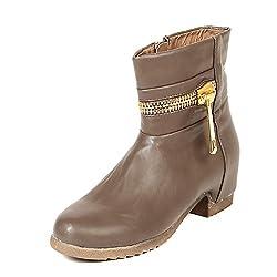 TEN Khaki Leather Boots
