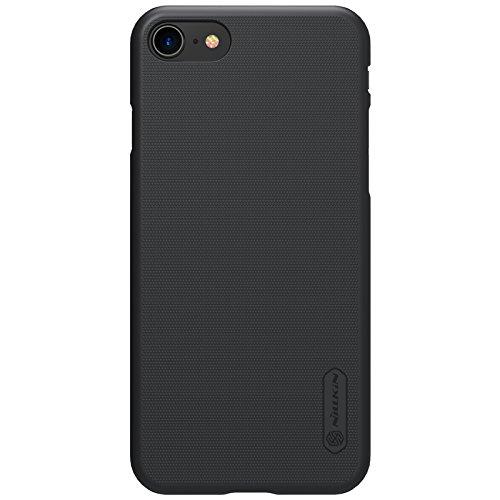 BCIT iPhone 8 Hülle - Premium Qualität Harte Schale Ultra Slim Schutzhülle +1 Film Displayschutzfolie für iPhone 8 - Rot Schwarz