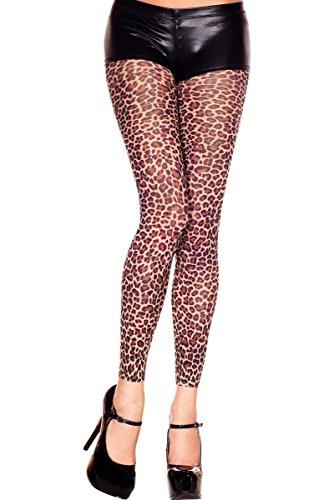 Musik Beine Leopard Print blickdicht Leggings, braun (Bein Leopard)