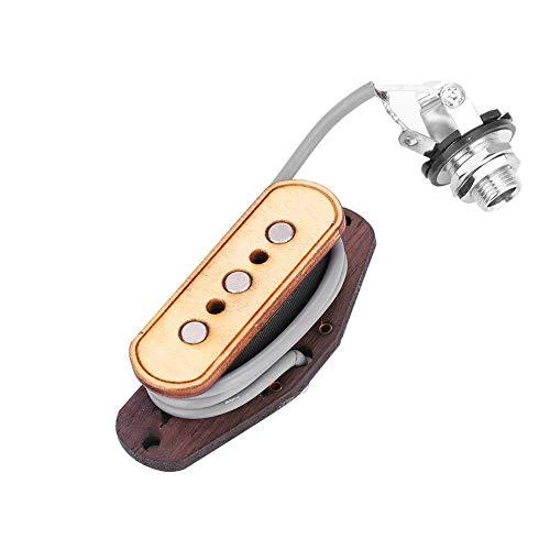 Riuty Guitar Pickup Pre verdrahtete 3-String-Pickup-Eingangsbuchse Ersatzteile für Cigar Box