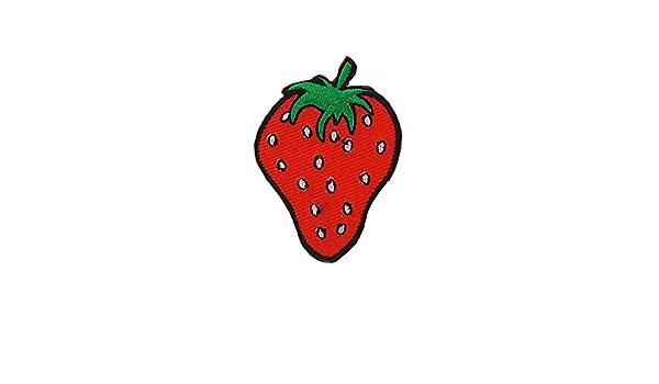 Patch Stemma Ricamato Applique Backpack Giubbotto Piumino Cucito Fragola Strawberry