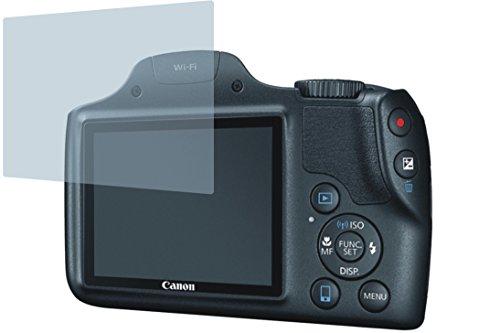 Canon PowerShot SX530 HS (2 Stück) PREMIUM Displayschutzfolie Bildschirmschutzfolie kristallklar - KRATZFEST UND PASSGENAU (Canon Hs-100)