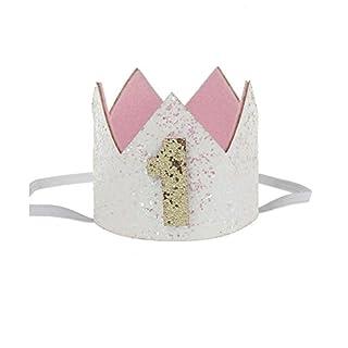 Kicode Krone Baby Mode Haarband Geburtstag Eleganter Glitzer Nettes Kind Geniales Kleinkind Haarpflegezubehör Kopfbedeckung Geschenk