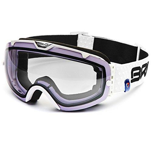 Briko Bomba Sphärische Skibrille mit großem Blickfeld mehrfarbig weiß Einheitsgröße