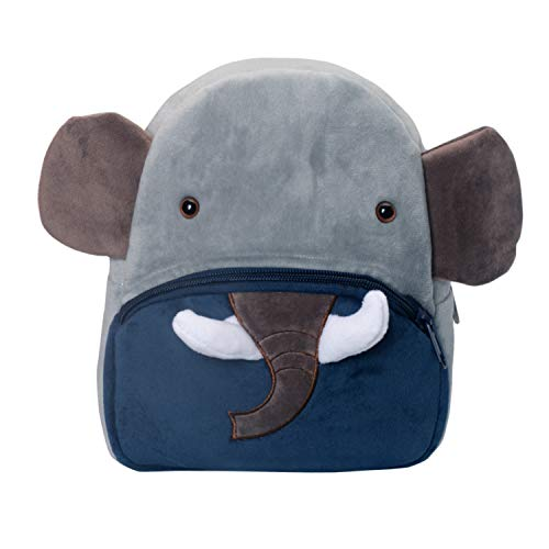 Cassiecy Plüsch Tier Kinder Rucksack Netter Cartoon Einsteigerrucksack Kinder Tasche für Baby Jungen Mädchen 1-3 Jahre (Elefant)