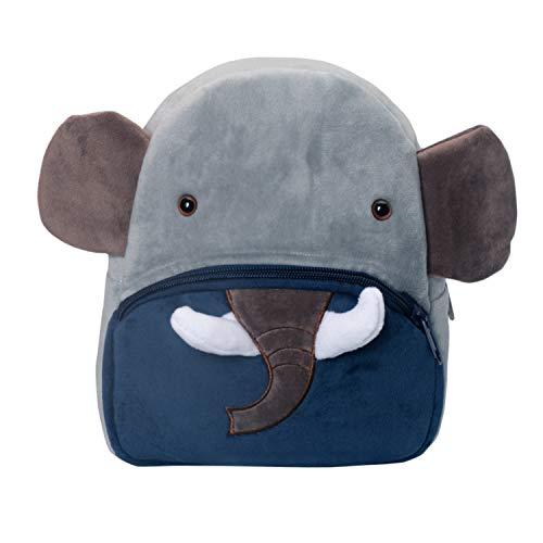 Cassiecy - Mochila Infantil de Peluche, diseño de Dibujos Animados Elefante